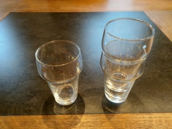 Bier stapelglas
