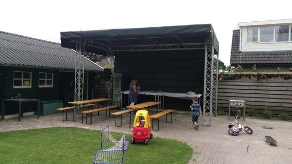 Podiumoverkapping 4x6m