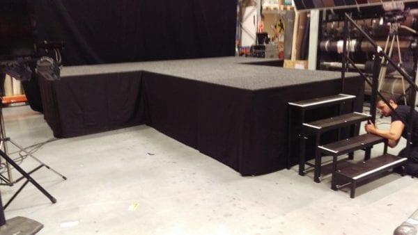 Podium met catwalk