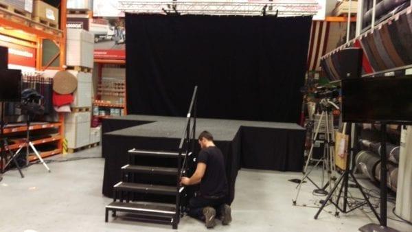 Podium trap