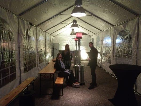 Interieur partytent 4x10m
