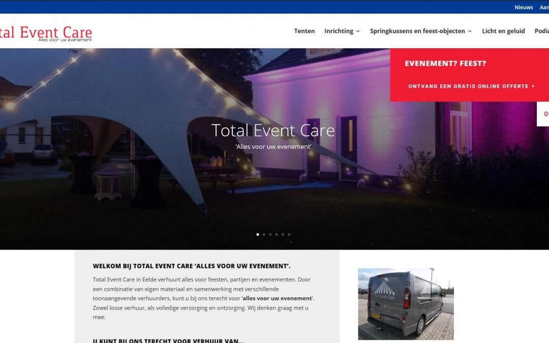 Nieuwe website online!!!